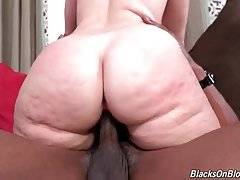 Two Black Guys Share Booty White Chick 2