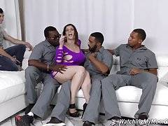 Sara doesn`t care who`s around to watch now -- if there`s a black man around, Sara`s gonna figure out a way to fuck him.
