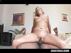 Busty White Chick Rides Thick Black Dick 1