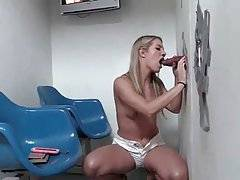 Sexy Blonde Sucks Random Black Dick 1